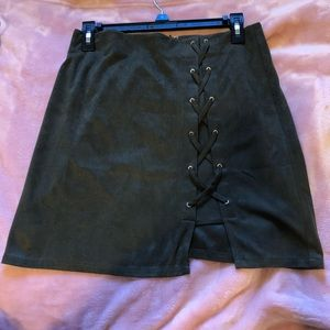 Boutique forest green skirt
